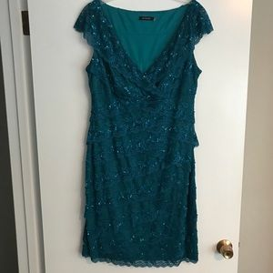 Marina Lace Layered Sequin Dress